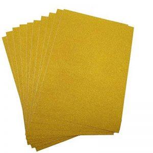 10 feuilles A4 Paillettes Craft autocollant vinyle Art Sticker Sparkling Panneau en couleur métallique DIY Cadeau doré de la marque SuperHandwerk image 0 produit