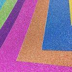 10 feuilles Large 30cm x 30cm Autocollant Craftwork Glitter Autocollant vinyle Papier Art Signe étincelant Gemstone Metallic Color Scrapbooking DIY Cadeau de Noël (couleurs mixtes) de la marque SuperHandwerk image 3 produit