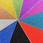 10 feuilles Large 30cm x 30cm Autocollant Craftwork Glitter Autocollant vinyle Papier Art Signe étincelant Gemstone Metallic Color Scrapbooking DIY Cadeau de Noël (couleurs mixtes) de la marque SuperHandwerk image 1 produit