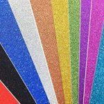 10 feuilles Large 30cm x 30cm Autocollant Craftwork Glitter Autocollant vinyle Papier Art Signe étincelant Gemstone Metallic Color Scrapbooking DIY Cadeau de Noël (couleurs mixtes) de la marque SuperHandwerk image 2 produit