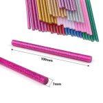 100 bâtons 7 x 100 mm Paillettes Pistolet Colle chaude adhésif Sticks pour Décoration Créative Ecriture Sceau Réparation Bricolage de la marque image 1 produit