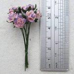 100pcs Mini Rose mixte Violet Couleur papier mûrier Fleur 10–15mm scrapbooking carte de mariage Fournitures de maison de poupée, par Amata Kufu élégant de la marque Amata Kufu Mulberry Paper Flowers image 3 produit