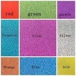 10pcs A4 feuilles Paillettes Craft autocollant vinyle Art Sticker Sparkling Panneau en couleur métallique DIY Cadeau couleurs mélangées de la marque SuperHandwerk image 4 produit