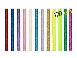 120 Bâton de Colle Chaude 7mm Colle Thermofusible Couleur Paillette pour Décoration Créative DIY de la marque NOVSIX image 0 produit