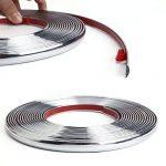 12MM x 8M bande decoratif chrome adhesif autocollant protection porte fenetre de la marque surepromise image 3 produit