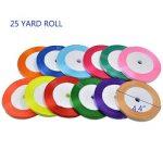 12PCS Ruban Satin Mixte Coloris 6mm x 23m environ Décoration Pour Diy, Mariage Fête et Emballage Cadeau Faire nœud Papillon de la marque golight image 1 produit