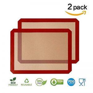 [2 Pièces] Tapis silicone GenKi anti-adhésif Excellente ténacité et résistance à la déchirure (42-30-0.07 cm) de la marque GenKi image 0 produit