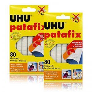 2 x UHU patafix 80 électrodes adhésives - fortes, amovible, blanc de la marque UHU image 0 produit