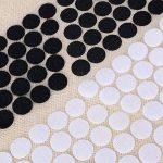 200 Paires 2cm Blanc + Noir Velcro Points Bande Adhésive Rond Cercle Crochet Boucle Pastilles Autocollantes Rubans Adhésifs Scratch pour Mercerie Scrapbooking Loisirs créatifs DIY de la marque JNCH image 3 produit