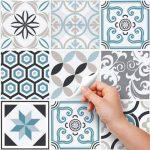 (24 PIECES) carrelage adhésif 20x20 cm - PS00054 - Oslo - Adhésive décorative à carreaux pour salle de bains et cuisine Stickers carrelage - collage des tuiles adhésives de la marque wall art image 1 produit