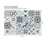 (24 PIECES) carrelage adhésif 20x20 cm - PS00054 - Oslo - Adhésive décorative à carreaux pour salle de bains et cuisine Stickers carrelage - collage des tuiles adhésives de la marque wall art image 2 produit
