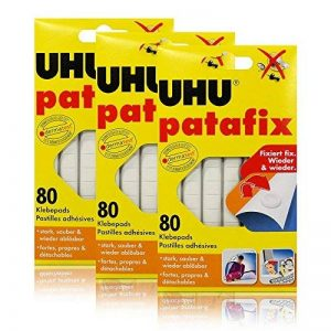 3 x UHU patafix 80 électrodes adhésives - fortes, amovible, blanc de la marque UHU image 0 produit