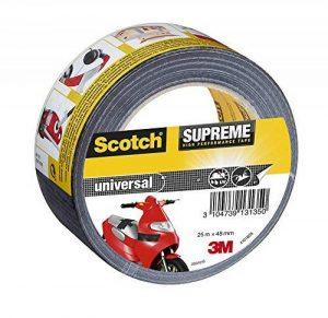 3M Scotch Suprême Ruban Toilé de Réparation Ultra Résistant 25 m x 48 mm 1 Rouleau Noir de la marque Scotch image 0 produit