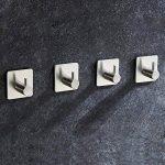 4 Pièces Crochet Adhésif, Aikzik® 8kg Max Crochet Mural de Salle de Bains En Acier Inox, Porte Serviette Avec 3M Scotch Adhésif, Famille et Bureau, Auto-Adhesif de la marque Aikzik image 3 produit