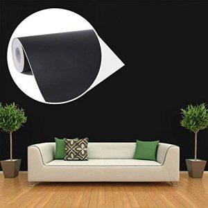 45cmx10M Papier Peint Auto-Adhésif Trompe l'oeil Stickers Autocollant Muraux Décoration Murale pour Chambre Salon Meuble, Noir de la marque JUNXAVE image 0 produit