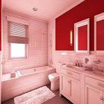 45cmx10M Papier Peint Auto-Adhésif Trompe l'oeil Stickers Autocollant Muraux Décoration Murale pour Chambre Salon Meuble, Rouge de la marque JUNXAVE image 1 produit