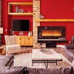 45cmx10M Papier Peint Auto-Adhésif Trompe l'oeil Stickers Autocollant Muraux Décoration Murale pour Chambre Salon Meuble, Rouge de la marque JUNXAVE image 2 produit