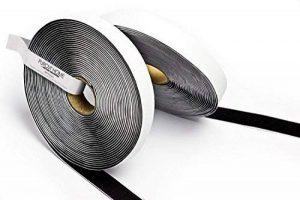 5M Bande Velcro autocollant, Flausch & crochets, 20mm de large, noir de la marque Purovi image 0 produit