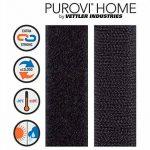 5M Bande Velcro autocollant, Flausch & crochets, 20mm de large, noir de la marque Purovi image 1 produit