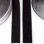 5M Bande Velcro autocollant, Flausch & crochets, 20mm de large, noir de la marque Purovi image 2 produit