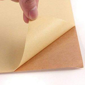 50 feuilles de papier kraft A4 Mat Autocollant/étiquettes autocollantes d'adresses papier d'impression. de la marque EVG image 0 produit