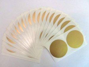 50 étiquettes et 50 mm de diamètre, doré mat autocollants Motif pois de la marque Minilabel image 0 produit