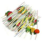 50x 3D tubes Pailles pailles Flex Pailles avec des fruits, fruits pour les fêtes, mariage, Cocktails de la marque B&D image 2 produit