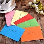 60 Pièces Mini Enveloppes Multi Couleur Mignon Enveloppes (4,6 x 3,2 Pouces) pour Mariage de Cartes, Fournitures de Fête d'Anniversaire de la marque Bememo image 3 produit