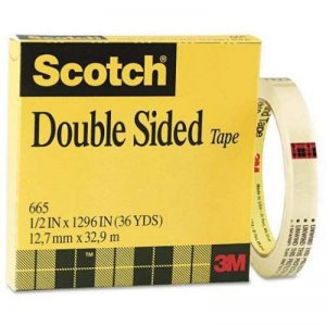"665 Double-Sided Office Tape, 1/2"" x 36 yards, 3"" Core, Clear de la marque Scotch image 0 produit"