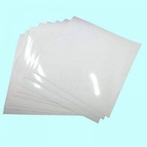 8-sheets PU Grand 25,5 cm x 25,5 cm ultra Adhésif permanent HTV vinyle Flex transfert de chaleur dos couleurs assorties glossy white de la marque SuperHandwerk image 0 produit
