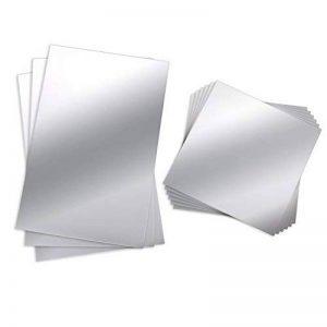9 Pièces Feuilles Miroir Muraux Miroir Plastique Miroir Autocollant Miroir de Carrelage Flexible non Verre Stickers Muraux, 6 Pouces par 6 Pouces et 6 Pouces par 9 Pouces de la marque BBTO image 0 produit