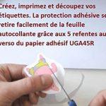 A4 Inkjet (Jet d'encre) pour création d'Autocollants Vinyle.- stickers vInyl Matt micro poreux x 10 Feuilles de la marque UNIVERS GRAPHIQUE image 1 produit