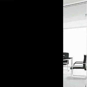 """Adhésif Film Electrostatique Film Dépoli de Vitre Fenêtre, EASEHOME Verre Autocollants Décoratifs Pour Fenêtre Opaque Film Autocollant Fenetre Statique Sticker Protége Intimité Anti-UV 17.7""""x78.7""""(45x200cm), Tout Noir de la marque EASEHOME image 0 produit"""
