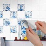 Adhésif mural cuisine et salle de bain | Vinyl Autocollant decoratif pour carrelage | Revêtement pour credence cuisine | Carrelage adhésif - Design Tuile Hollondais - 15x15 cm - 9 pièces de la marque creatisto image 2 produit