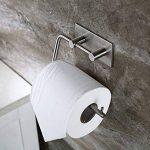 Adhésif Porte Papier Toilette, Aikzik® Distributeur Papier Mural WC Salles de Bains En Acier Inox Porte Rouleau Papier, Auto-Adhesif de la marque Aikzik image 1 produit