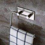 Adhésif Porte Papier Toilette, Aikzik® Distributeur Papier Mural WC Salles de Bains En Acier Inox Porte Rouleau Papier, Auto-Adhesif de la marque Aikzik image 2 produit