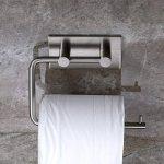 Adhésif Porte Papier Toilette, Aikzik® Distributeur Papier Mural WC Salles de Bains En Acier Inox Porte Rouleau Papier, Auto-Adhesif de la marque Aikzik image 3 produit