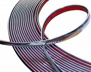 Aerzetix: 10mm 4.5m Bande baguette adhésive couleur chrome nickel argent de la marque AERZETIX image 0 produit