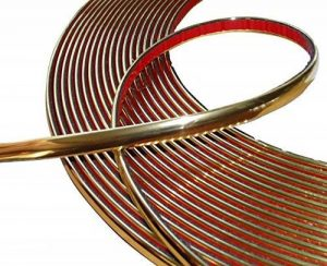 Aerzetix: 10mm 4.5m Bande baguette adhésive couleur or doré de la marque AERZETIX image 0 produit