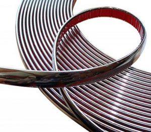 Aerzetix: 15mm 4.5m Bande baguette adhésive couleur chrome nickel argent de la marque AERZETIX image 0 produit