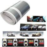 Aerzetix: Bande film sticker de toit capot coffre centre adhésif argent 10cm 4.5m pour tuning decoration auto voiture C17014 de la marque AERZETIX image 1 produit