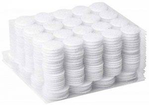 AIEX 250 Paire Autocollantes Crochets et Boucles Rond Pastille Adhesive Collant Point Monnaies arrière,Blanc(200 paires de 20 mm et 50 paires de 25 mm) de la marque AIEX image 0 produit