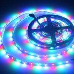 ALED LIGHT 5 M RGB LED Bande de 300 Unités, 60 LED Par Mètre Ruban Lumineux 3528 SMD avec des Lumières Colorées Non-étanche Ruban LED + 24 Clés Télécommande IR + Alimentation 2A, 12V de la marque ALED LIGHT image 6 produit
