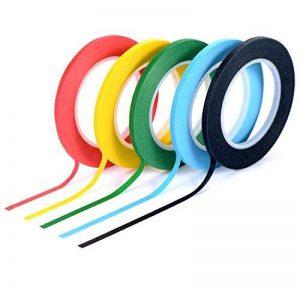 Amaza 16 Rollen 3mm x 33m DIY Washi Tape Masking Klebeband Rubans Adhésifs Autocollants Bandes Adhesives Décoratifs, 8 Couleurs (Multicolore) de la marque Amaza image 0 produit