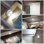 AMIR Lampe Détecteur de Mouvement, LED Detecteur Mouvement, Lampe de Placard, Alimenté par Batterie (Non Inclus), pour Penderie/Étagère/Entrée/Garage/Cuisine/Passage, 3 Pack (Blanc) de la marque AMIR image 1 produit