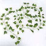 AONER 12x2m Lierre Vigne Plante Artificielle Intérieur Exterieur Plante Guirlande Decoration Deco Maison Mariage de la marque AONER image 2 produit