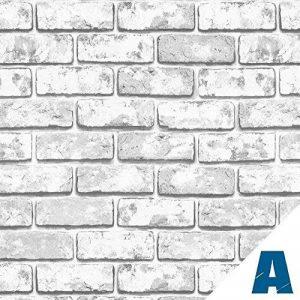 Artesive ST-04 Briques Gris 50 cm x 2,5 mt. - Film Adhésif avec effet de la pierre autocollant largeur en Vinyle pour la maison, la décoration, meubles, porte et toutes les surfaces lisses. de la marque Artesive image 0 produit
