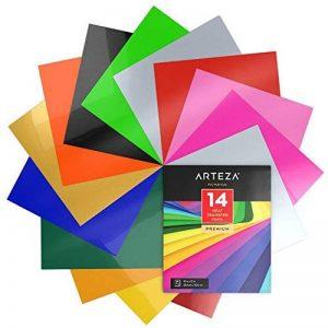 Arteza 14 Feuilles de Vinyle Thermocollant Premium Couleurs Assortis Transfert de Chaleur 25.4 X 30.5 cm - Permanent HTV - Fer sur vinyle (boite de 14 Couleurs) de la marque ARTEZA® image 0 produit