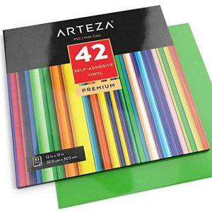 Arteza 42 Feuilles de Vinyle Auto-Adhésives Haute Qualité avec Couleurs Uniques 30,4 X 30,4 cm (En Boite de 42 feuilles) de la marque ARTEZA® image 0 produit