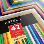Arteza 42 Feuilles de Vinyle Auto-Adhésives Haute Qualité avec Couleurs Uniques 30,4 X 30,4 cm (En Boite de 42 feuilles) de la marque ARTEZA® image 1 produit